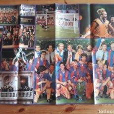 Coleccionismo deportivo: POSTER BARÇA FUTBOL CLUB BARCELONA CAMPEONES EUROPA WEMBLEY 1992 REVISTA HOLA. Lote 197745445