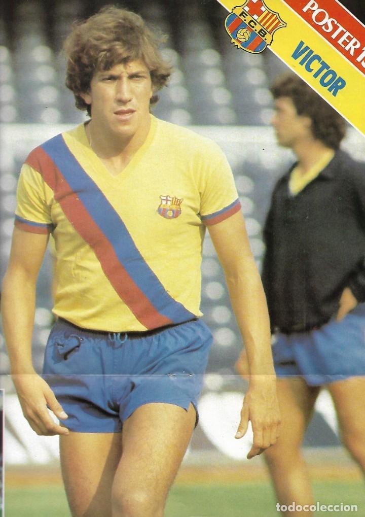 BARÇA: PÓSTER DE VÍCTOR MUÑOZ. 1981 (Coleccionismo Deportivo - Carteles de Fútbol)