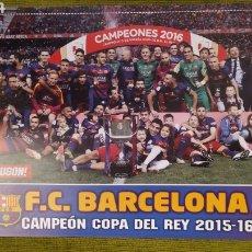 Coleccionismo deportivo: PÓSTER FC BARCELONA REVISTA JUGON. CAMPEÓN DE LA COPA DEL REY 2015/16. Lote 207245372