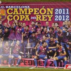 Coleccionismo deportivo: PÓSTER FC BARCELONA REVISTA JUGON. CAMPEÓN DE LA COPA DEL REY 2011/12. Lote 207245247