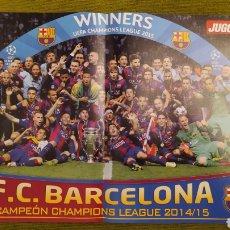 Coleccionismo deportivo: PÓSTER FC BARCELONA REVISTA JUGON. CAMPEÓN DE LA COPA DE EUROPA 2014/15. Lote 207245498