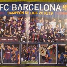 Coleccionismo deportivo: PÓSTER FC BARCELONA REVISTA JUGON. CAMPEÓN DE 2018/19. Lote 207245212