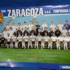 Coleccionismo deportivo: REAL ZARAGOZA TEMPORADA 2006/07 - POSTER DE 60 X 42 CM.. Lote 198709448