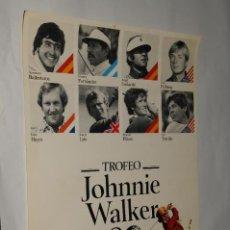 Coleccionismo deportivo: POSTER GOLF - TROFEO JOHNNIE WALKER - REAL CLUB DE GOLF EL PRAT - SEVERIANO BALLESTEROS.... Lote 198950825