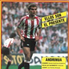 Collezionismo sportivo: ATHLETIC DE BILBAO: LÁMINA DE ANDRINÚA. Lote 199211497
