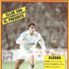 Colecionismo desportivo: REAL MADRID: LÁMINA DE ADOLFO ALDANA. Lote 199211645