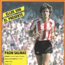 Collezionismo sportivo: ATHLETIC DE BILBAO: LÁMINA DE PACHI SALINAS. 1989. Lote 199211673