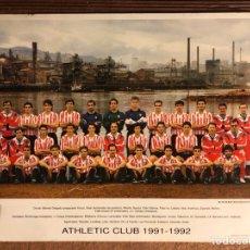 Coleccionismo deportivo: ATHLETIC CLUB TEMPORADA 1991/92. TARJETÓN OFICIAL DE LA PLANTILLA FRENTE A ALTOS HORNOS.. Lote 199237080
