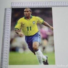 Coleccionismo deportivo: LAMINA DEL COLECCIONABLE LAS ESTRELLAS DEL MUNDIAL 98 FUTBOL ROMARIO(BRASIL). Lote 199423606