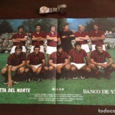 Coleccionismo deportivo: ANTIGUO PÓSTER MILAN . Lote 199704030