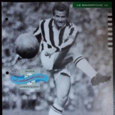 Coleccionismo deportivo: COVER JUVENTUS CALCIO 1991 GIAMPIERO BONIPERTI ITALIA CAMPIONI & CAMPIONATO 90 91 MINI POSTER. Lote 199711266