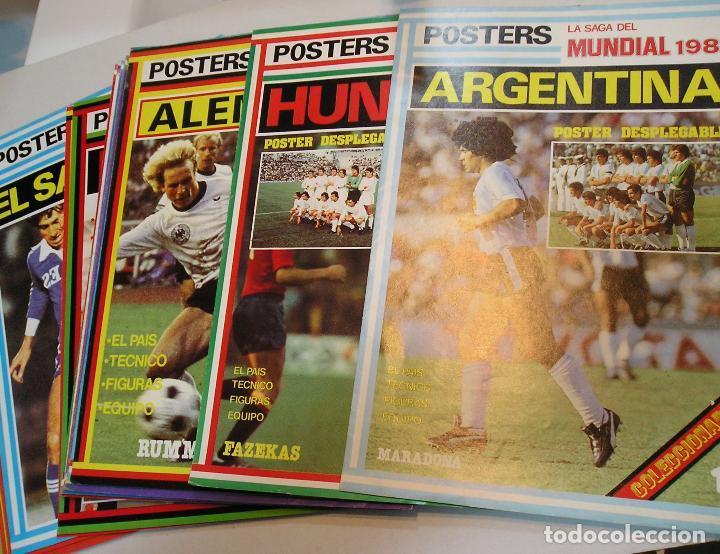 FUTBOL ESPAÑA 1982 LA SAGA DEL MUNDIAL 82 COMPLETA 24 POSTER POSTERS DESPLEGABLES IMPECABLES (Coleccionismo Deportivo - Carteles de Fútbol)