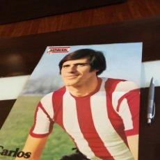 Coleccionismo deportivo: POSTER CARLOS ATHLETIC DE BILBAO AÑOS 70. Lote 199896375