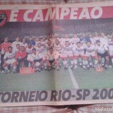Coleccionismo deportivo: POSTER SAO PAULO 2001 TORNEO RIO SP. Lote 199995340