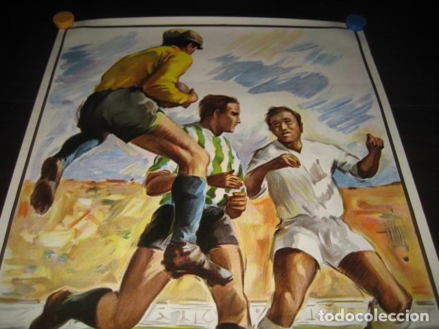 Coleccionismo deportivo: POSTER FUTBOL SEMIFINAL COPA DE LA UEFA. INTERNAZIONALE - REAL MADRID. ESTADIO SANTIAGO BERNABEU - Foto 2 - 200027230