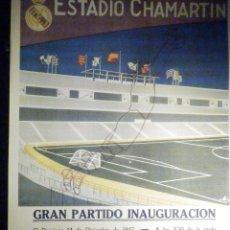 Coleccionismo deportivo: POSTER REAL MADRID CLUB DE FUTBOL - 28 X 39 CM.. OS BELENENSES DE LISBOA - 14- DIC 1947. Lote 200181112