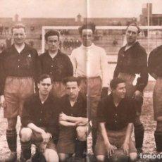 Coleccionismo deportivo: SELECCIÓN ESPAÑOLA DE FÚTBOL: LÁMINA DEL EQUIPO QUE PARTICIPÓ EN LA OLIMPIADA DE 1928, EN AMSTERDAM. Lote 200768100