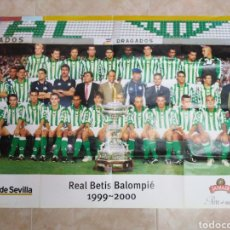 Coleccionismo deportivo: PÓSTER REAL BETIS BALOMPIE 1999-2000 DIARIO DE SEVILLA. Lote 201127113