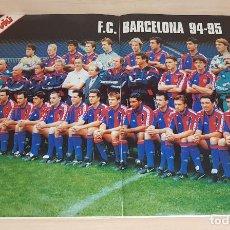 Coleccionismo deportivo: POSTER DEL EQUIPO DE FUTBOL F.C. BARCELONA DE LA LIGA 94/95-NUEVO-53X36CM. Lote 201260917