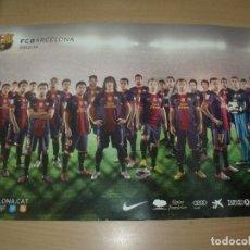 Coleccionismo deportivo: CARTEL POSTER A DOS CARAS 48 X 32 CMS F.C. BARCELONA TEMPORADA 2012 2013 . Lote 201707518