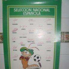 Coleccionismo deportivo: SELECCION NACIONAL ESPAÑOLA ANDRES EL CIEMPIES AFE MONESAL 63 X 39 CMS. Lote 201707527