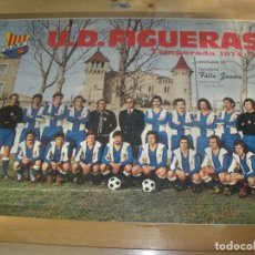 Coleccionismo deportivo: CARTEL POSTER U.D. FIGUERAS TEMPORADA 1974 FERRETERIA FELIX JAUME 67 X 47 CMS FOTO MELI. Lote 201797687