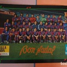 Coleccionismo deportivo: ANTIGUO POSTER DE FUTBOL CLUB BARCELONA BON NADAL 1978. Lote 201861700