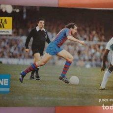 Coleccionismo deportivo: ANTIGUO POSTER DELL JUGADOR JUAN MANUEL ASENSI AÑO 1979 FUTBOL CLUB BARCELONA. Lote 201863567