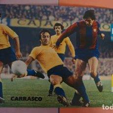 Coleccionismo deportivo: ANTIGUO POSTER DEL JUGADOR CARRASCO AÑO 1980 FUTBOL CLUB BARCELONA. Lote 201869883
