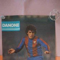 Coleccionismo deportivo: ANTIGUO POSTER DEL JUGADOR ZUVIRIA AÑO 1980 FUTBOL CLUB BARCELONA. Lote 201895890