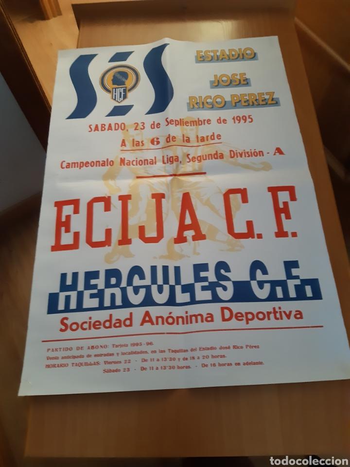 Coleccionismo deportivo: CARTEL POSTER FÚTBOL HÉRCULES ECIJA SEGUNDA DIVISIÓN 95 96 1995 1996 - Foto 7 - 202681228