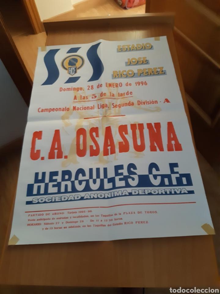 Coleccionismo deportivo: CARTEL PÓSTER FÚTBOL HÉRCULES OSASUNA SEGUNDA DIVISIÓN 95 96 1995 1996 - Foto 7 - 202681730