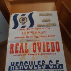 Coleccionismo deportivo: CARTEL PÓSTER FÚTBOL HÉRCULES OVIEDO PRIMERA DIVISIÓN 96 97 1996 1997. Lote 202684368