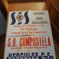 Coleccionismo deportivo: CARTEL PÓSTER FÚTBOL HÉRCULES COMPOSTELA PRIMERA DIVISIÓN 96 97 1996 1997. Lote 202684918