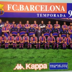 Coleccionismo deportivo: PÓSTER DE LA PLANTILLA DEL FC BARCELONA TEMPORADA 96/97. PUBLICIDAD KAPPA. TAMAÑO 62X40 NUEVO. Lote 203870831