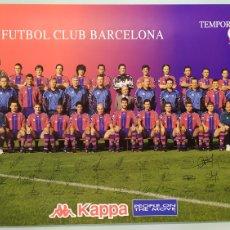 Coleccionismo deportivo: PÓSTER DE LA PLANTILLA DEL FC BARCELONA TEMPORADA 97/98. PUBLICIDAD KAPPA. TAMAÑO 62X40 NUEVO. Lote 203872165