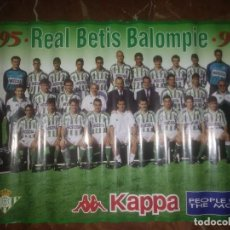 Coleccionismo deportivo: PÓSTER OFICIAL MARCA KAPPA REAL BETIS BALOMPIÉ 1995-96. Lote 204165513