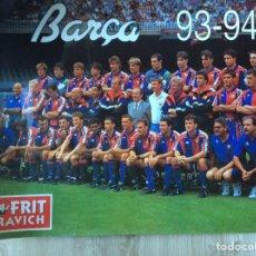 Coleccionismo deportivo: FÚTBOL CLUB BARCELONA PÓSTER TEMPORADA 93-94 MEDIDAS MEDIDAS 70X48 EN BUEN ESTADO CONSERVACIÓN. Lote 204185230