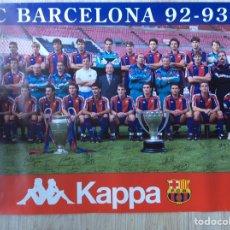 Coleccionismo deportivo: FÚTBOL CLUB BARCELONA PÓSTER TEMPORADA 92-93 BUENA CONSERVACIÓN MEDIDAS 40X65. Lote 204186602