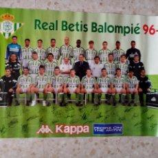 Coleccionismo deportivo: PÓSTER REAL BETIS, KAPPA, TEMPORADA 95-96. Lote 205273101