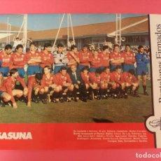 Coleccionismo deportivo: MINI POSTER CLUB ATLETICO OSASUNA 87/88 - REVISTA FUTGOL PLANTILLA LIGA 1987/1988 CA. Lote 205757363