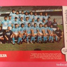 Coleccionismo deportivo: MINI POSTER RC CELTA DE VIGO 87/88 - REVISTA FUTGOL PLANTILLA LIGA 1987/1988. Lote 205760883