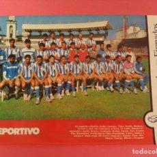 Coleccionismo deportivo: MINI POSTER RC DEPORTIVO DE LA CORUÑA 87/88 - REVISTA FUTGOL PLANTILLA LIGA 1987/1988. Lote 205762181