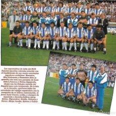 Coleccionismo deportivo: RCD. ESPAÑOL: RECORTE DE LA PLANTILLA Y LAS NOVEDADES DE LA TEMPORADA 92-93. Lote 205805907