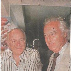 Coleccionismo deportivo: REAL MADRID: RECORTE DE ALFREDO DI STEFANO Y RAMÓN MENDOZA. Lote 205813398