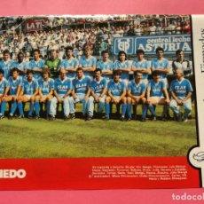 Collectionnisme sportif: MINI POSTER REAL OVIEDO 87/88 - REVISTA FUTGOL PLANTILLA LIGA 1987/1988. Lote 206174917