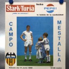 Colecionismo desportivo: HOMENAJE A MANOLO MESTRE - VALENCIA C.F. - ROYAL STANDARD DE LIEJA (BELGICA) AÑO 1969 - PEPSI. Lote 206223998