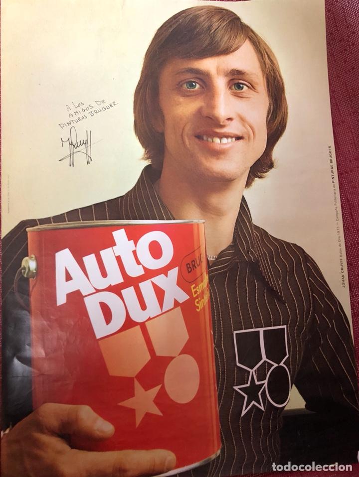 CARTEL JOHAN CRUYFF BRUGUER 1973 (Coleccionismo Deportivo - Carteles de Fútbol)