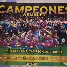Colecionismo desportivo: POSTER FC BARCELONA CAMPEÓN DE EUROPA 2011. Lote 206820603