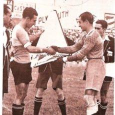 Coleccionismo deportivo: SEVILLA CF: RECORTE DE GUILLERMO EIZAGUIRRE Y EL CAPITÁN DEL SABADELL, FINAL DE COPA DE 1935. Lote 207108985